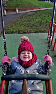 For a 4yr old swings are life, kids of all ages love to see how high they can go on a swing.
