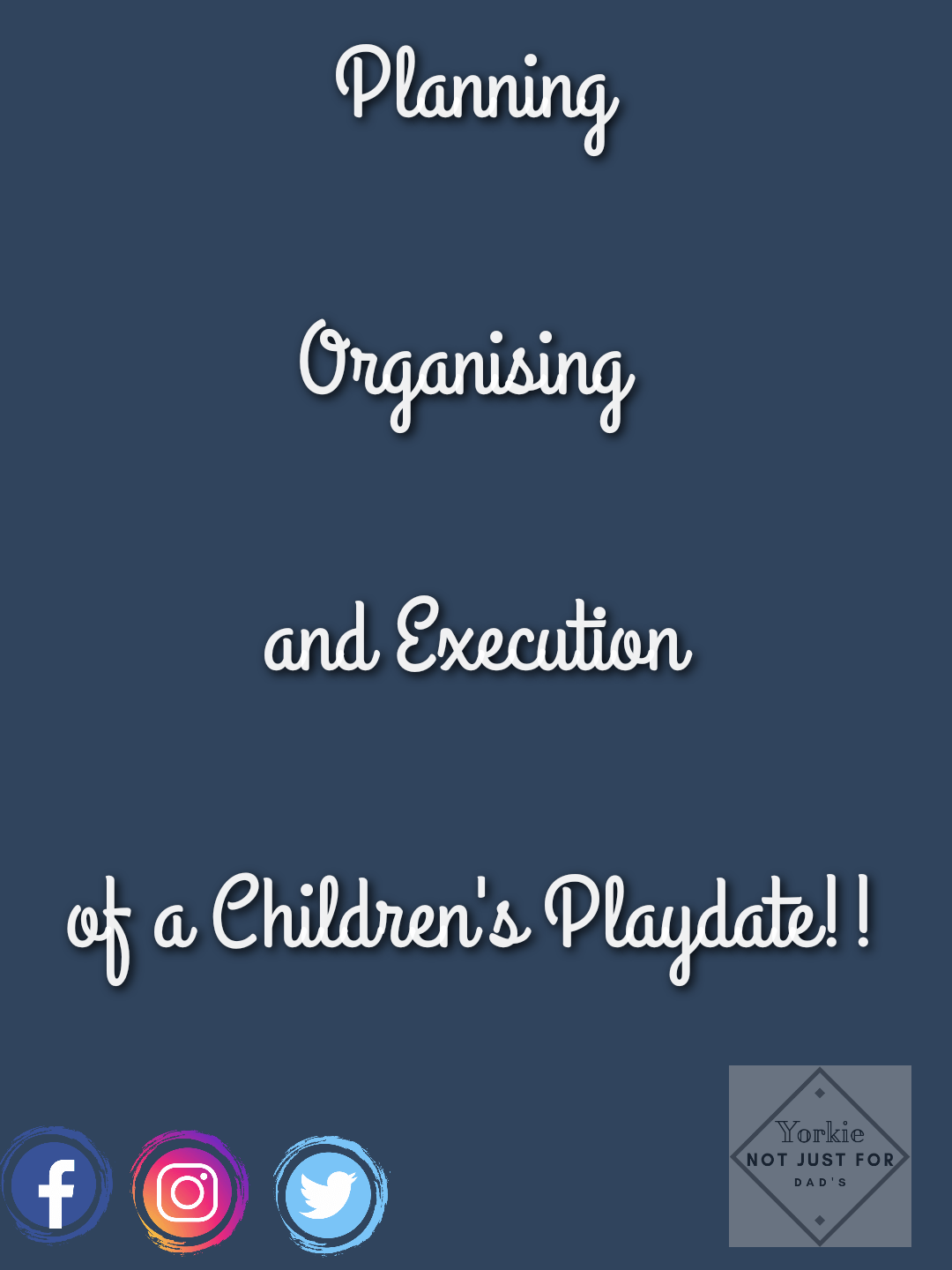 Featured image for the post organising and execution of a children's playdate