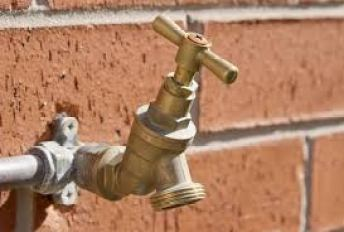 A picture of a fitted outside tap.