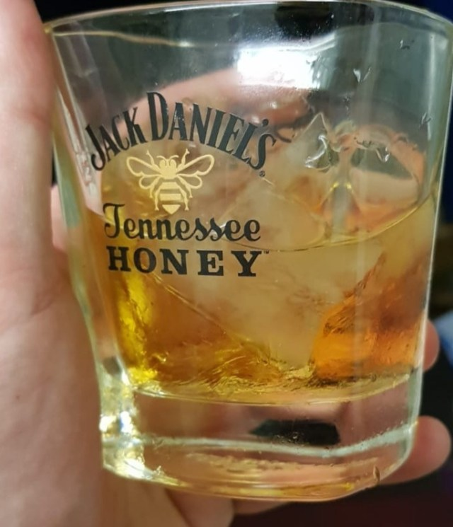 A nice glass of Jack Daniels Honey on Ice i my favourite Jack Daniels Honey Tumbler. One thing that helps me with self care.