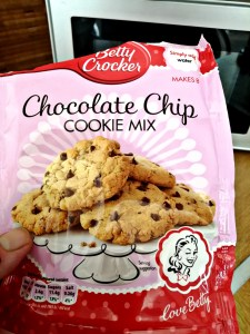 A packet mix of Chocolate Chip Cookie from Betty Crocker.