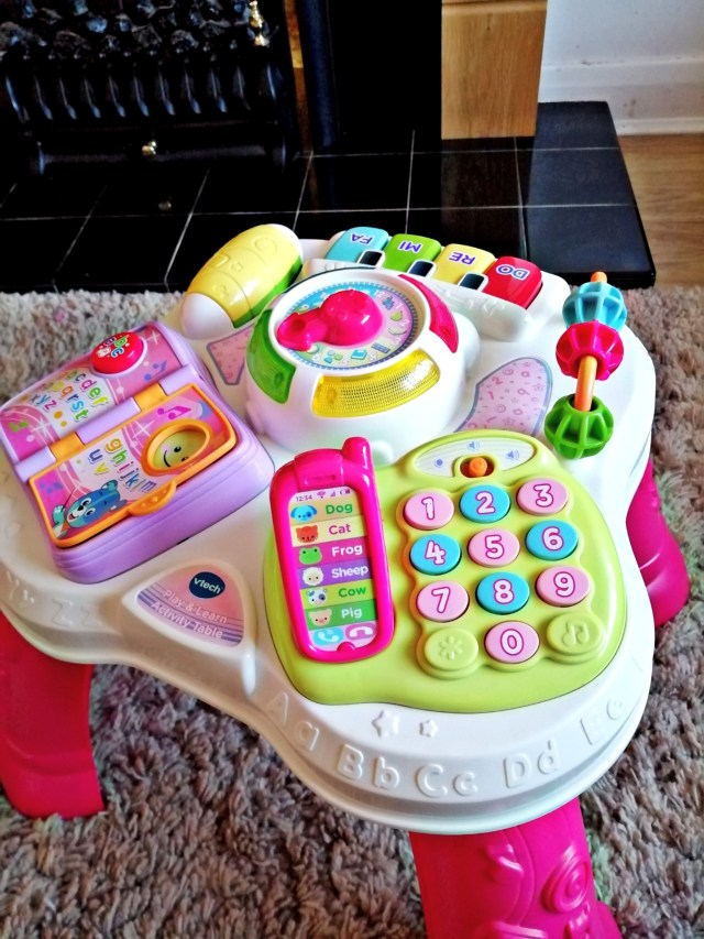 An image of the Vtech play and learn activity table.