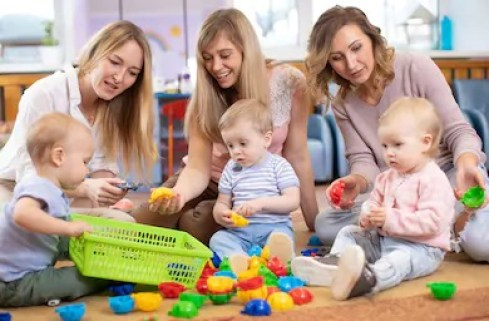 Learn to mingle with mum's at either playgroup or in the school playground will help being the at home parent. Being the stay at home dad it's always good to have people in a similar situation to speak with and even for socialising.