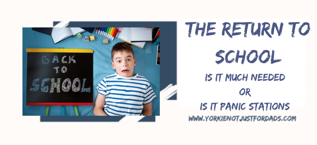featured image for my blog post The return to school