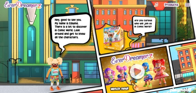 Screen Grab I took from the EverdDreamerz Comic World Site to highlight the interactive Story for you and your Kids. There is also an area of the EverDreamerz website for the Previous collection from Candy World.