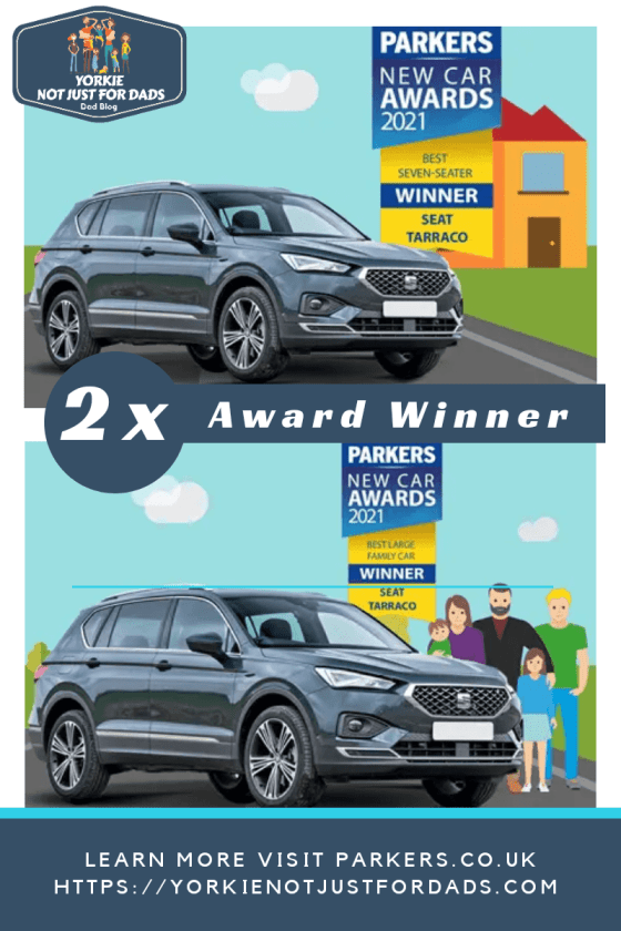 Here is an image I made to show the 2 awards the SEAT Tarraco won in.