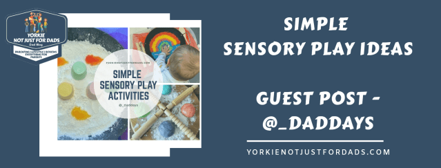 Featured image for the post simple sensory play ideas at home