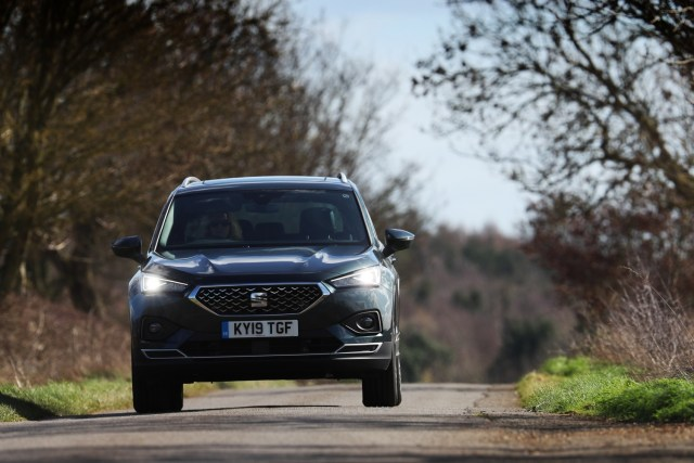 The SEAT Tarraco looks very capable taking on the B-roads here in the UK.