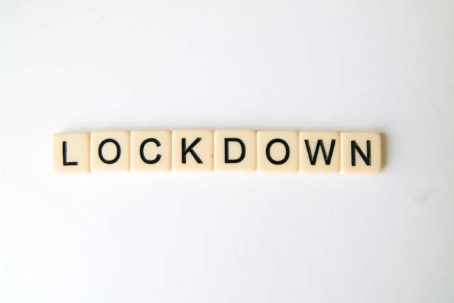 Lockdown scrabble letters, what have you noticed during lockdown.