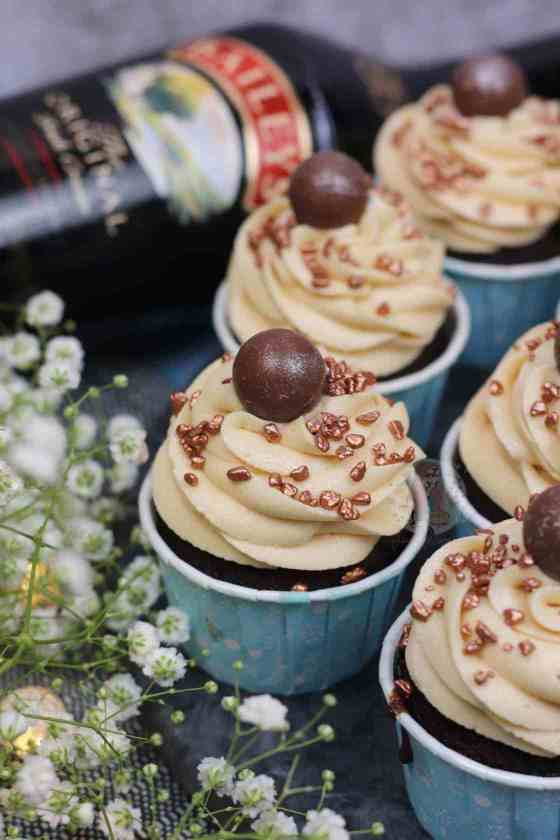 A Christmas baking recipe for these amazingly festive Baileys Cupcakes from Jane's Patisserie.