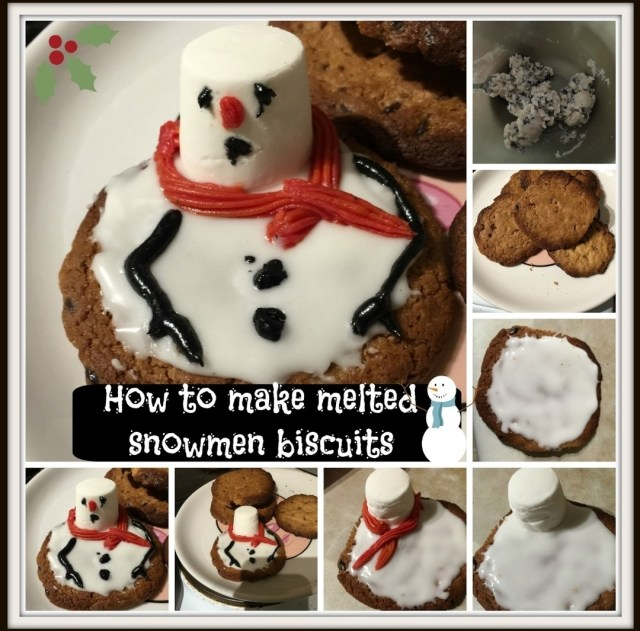 An easy peazy Christmas baking recipe that is super fun to do with the kids at Christmas time with these Melted Snowmen Biscuits.