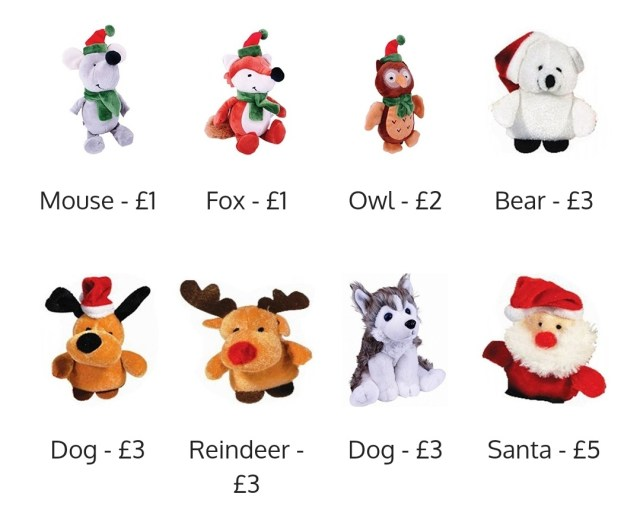 The Prizes to grab in Santa Claws which equals to a certain amount which is donated to NHS Charities Together by Liberty Games.