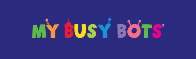 This is an image of the My Busy Bots logo.