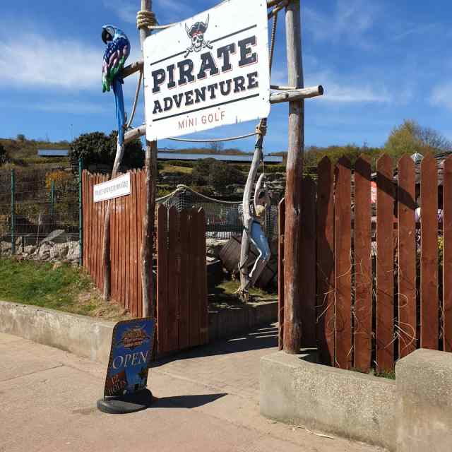 The Entrance to Pirate Adventure Golf, no plank walking here my heartys.