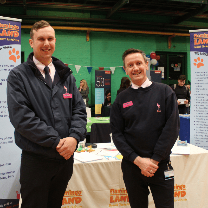 Staff from Flamingo Land at York Jobs Fair