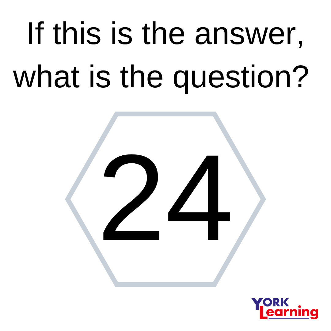 If this is the answer, what is the question? 24