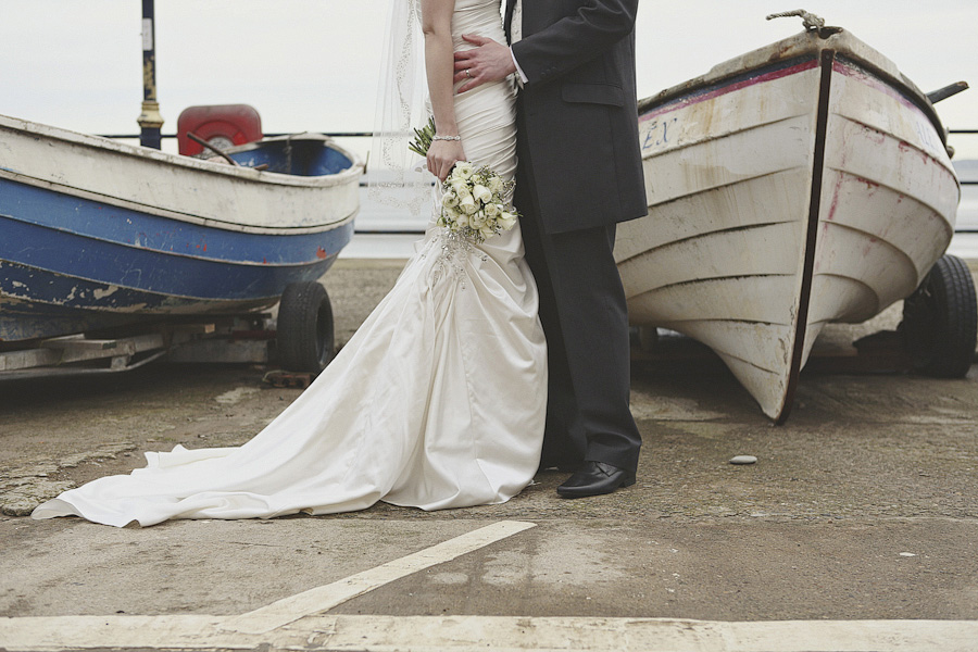 Boat and wedding dress