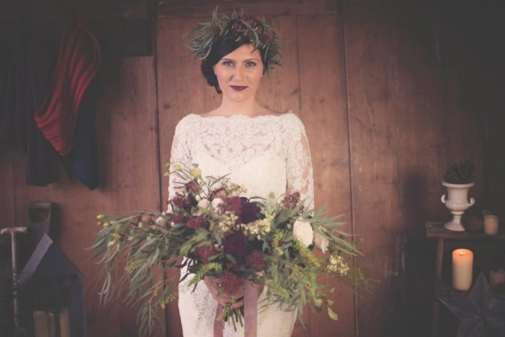 Winter Wedding Shoot 2016 at The Yorkshire Dales Flower Company - Photo Silvery Moon Photography
