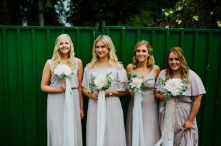 Emma's Bridesmaids. Cafe au Lait Bouquets. Photo: Tim Dunk Photography