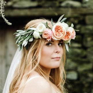 Hannah's Flower Crown. Photo Jess Petrie Photography