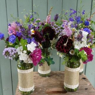 Summer Jar Arrangements