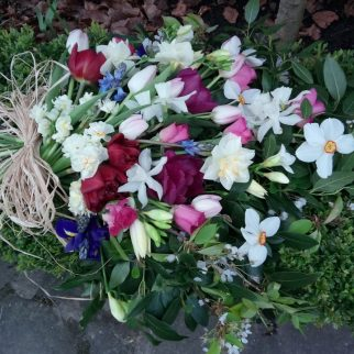 Biodegradable Spring Flowers Funeral Sheaf