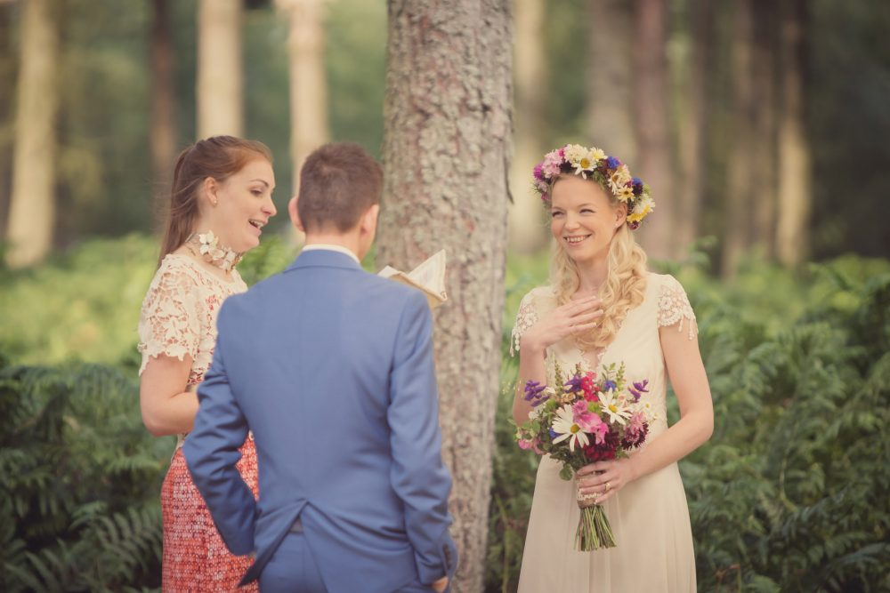Festival Brides – Victoria And Jason's Bohemian Themed Renewal Of Vows In The Woods
