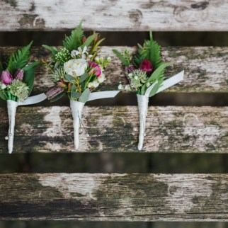 Photo: Lily North Photography. Nathan and Groomsmen's buttonholes.