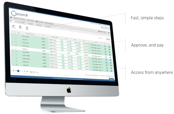 run payroll iMac
