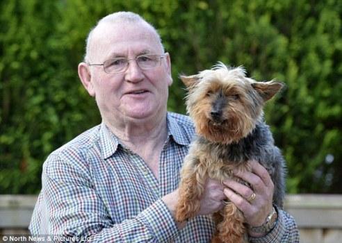 Ray Bunn, owner of UK's oldest Yorkshire Terrier