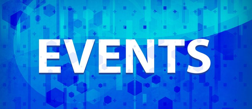 Events isolated on midnight blue prime background abstract illustration