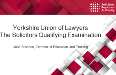 SQE – Yorkshire Union Roundtable with SRA