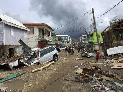 Caribbean Hurricane Damage
