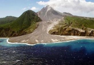 Soufriere Volcano in Caribbean