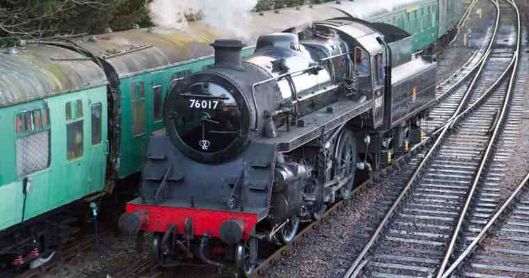 A Steam Train Ride on the Watercress Line, Hampshire