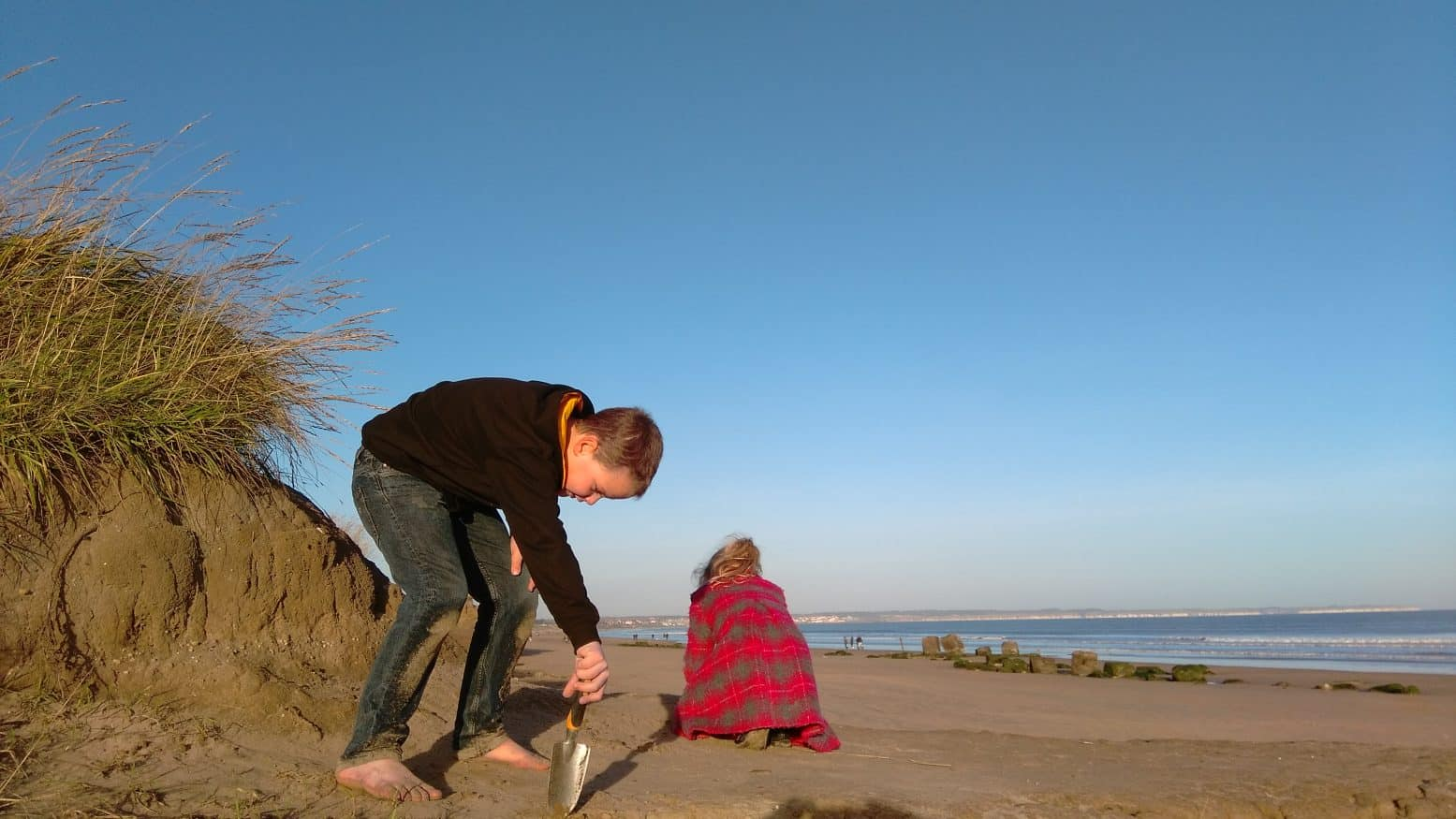 Winter Treasure Hunting on Fraisthorpe Beach