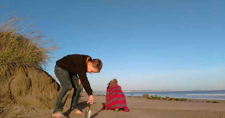 Winter Treasure Hunting on Fraisthorpe Beach