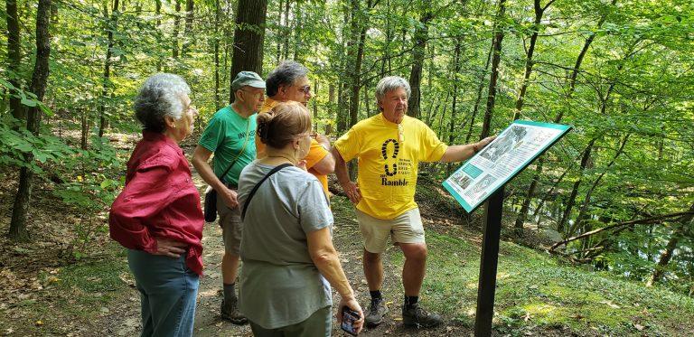 Ramble hike participants in Sylvan Glen