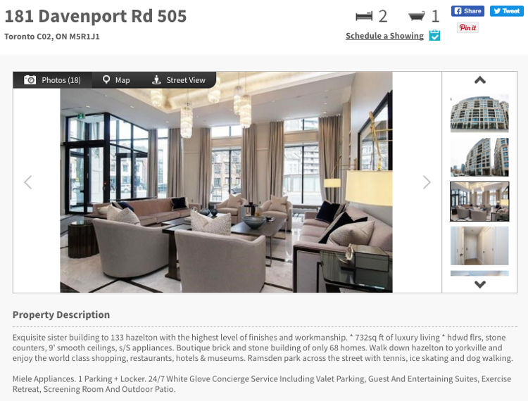 181 Davenport Rd - Two Bedroom Condo for Sale - Call Yossi KAPLAN