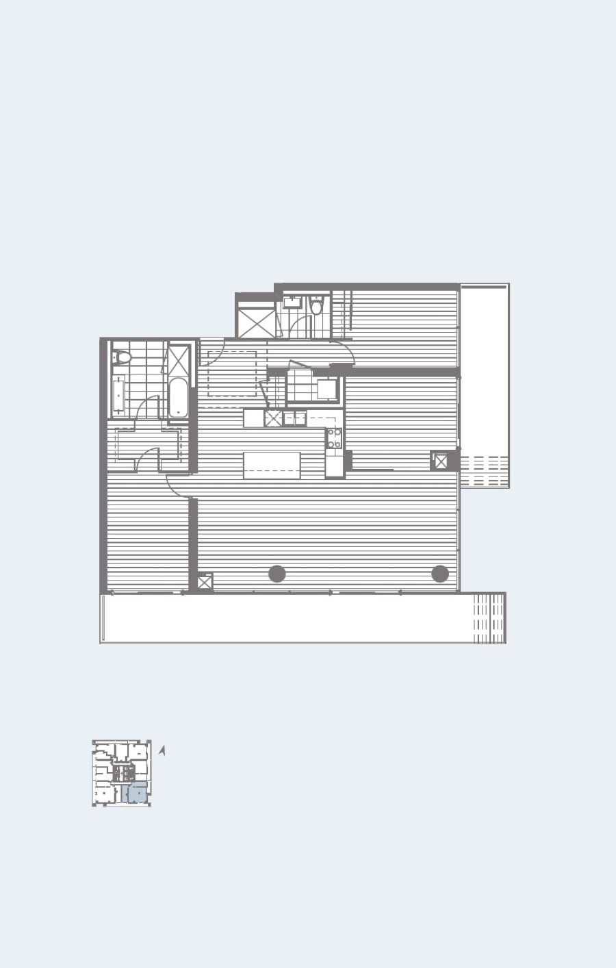 U CONDOS FOR SALE - FLOORPLANS TWO BED+DEN