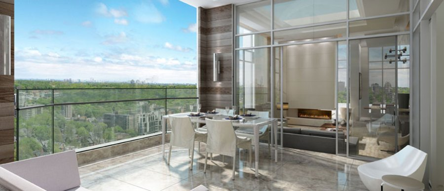 YORKVILLE PLAZA CONDOS FOR SALE - BALCONY