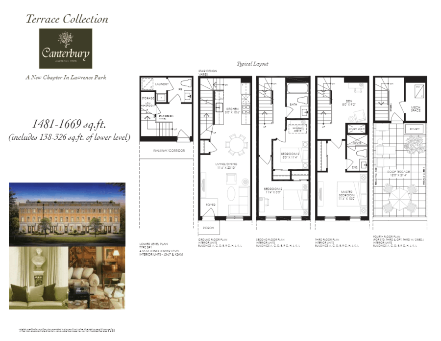 CANTERBURY LAWRENCE PARK - FLOORPLAN 1481 SQ FT - CONTACT YOSSI KAPLAN