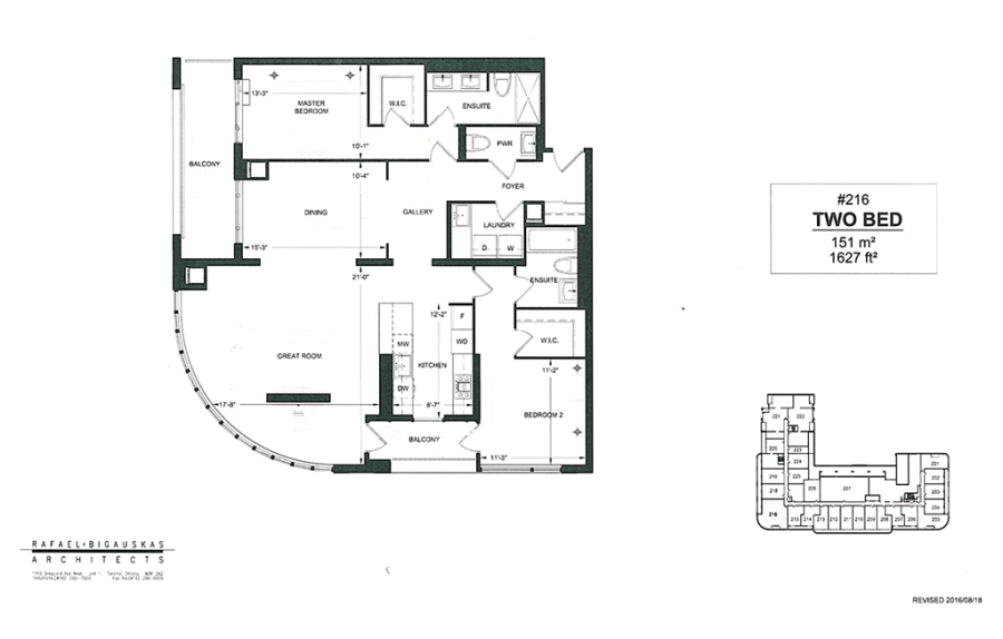 BROOKDALE ON AVENUE - FLOORPLAN TWO BED 1627 SQ FT - CONTACT YOSSI KAPLAN