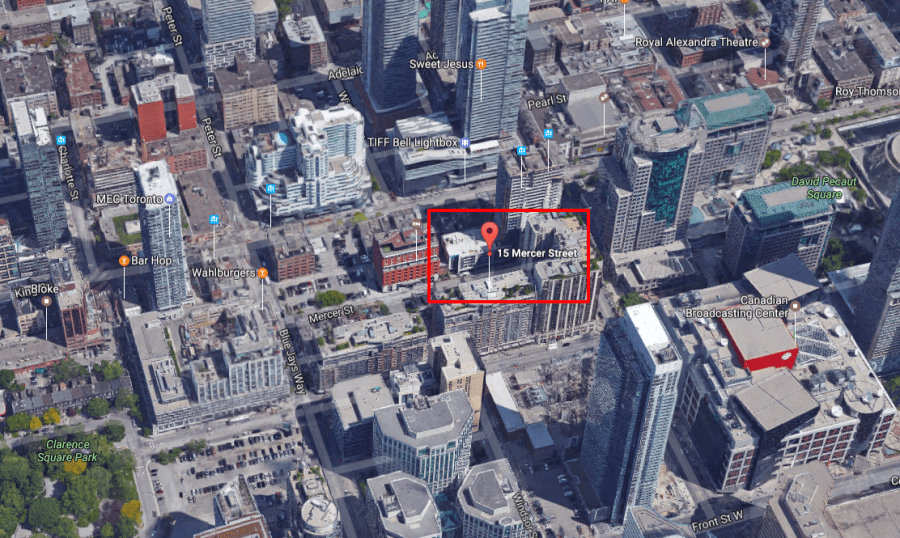 15-35 MERCER ST - NOBU SITE AERIAL VIEW