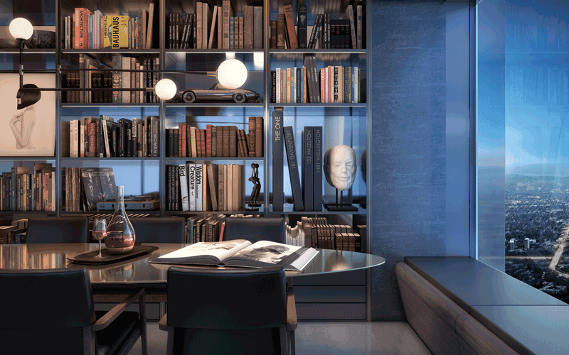 One Bloor West Residences - Library