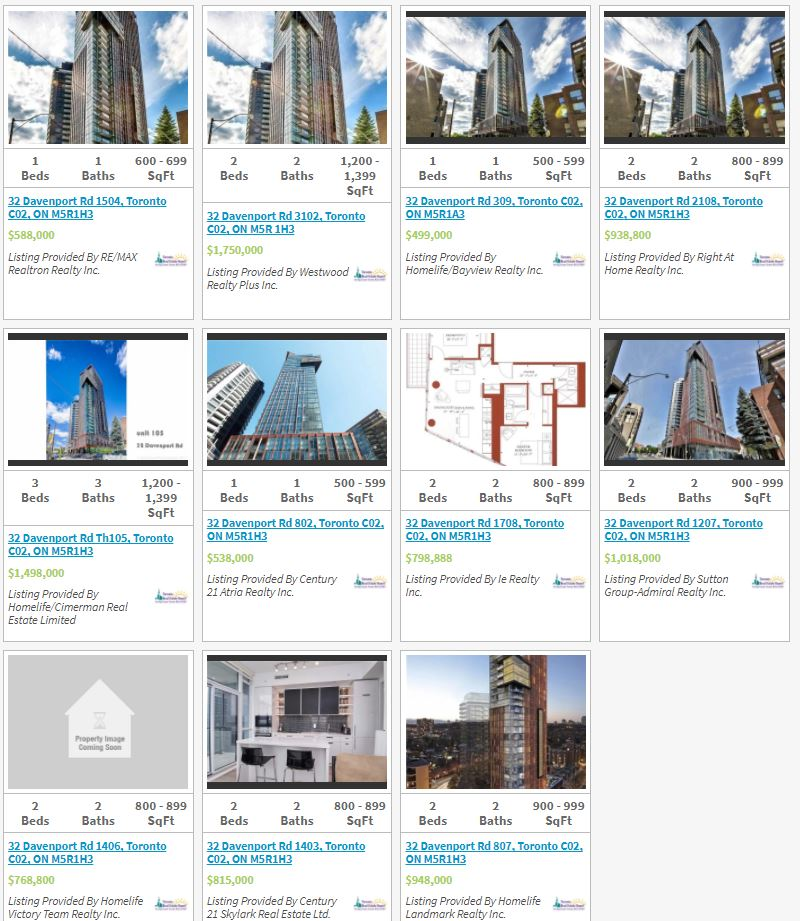 32 Davenport - Yorkville Condos For Sale - Live Listings