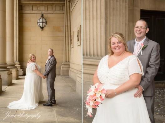 wedding-photography-Leeds-Town-Hall-steps