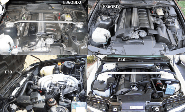 3 Series engine bays
