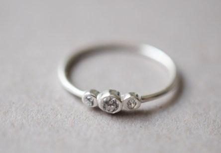 Ring 3 tiny Zirconia