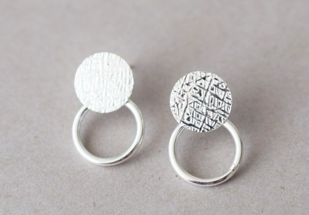 Earrings Disc & Ring